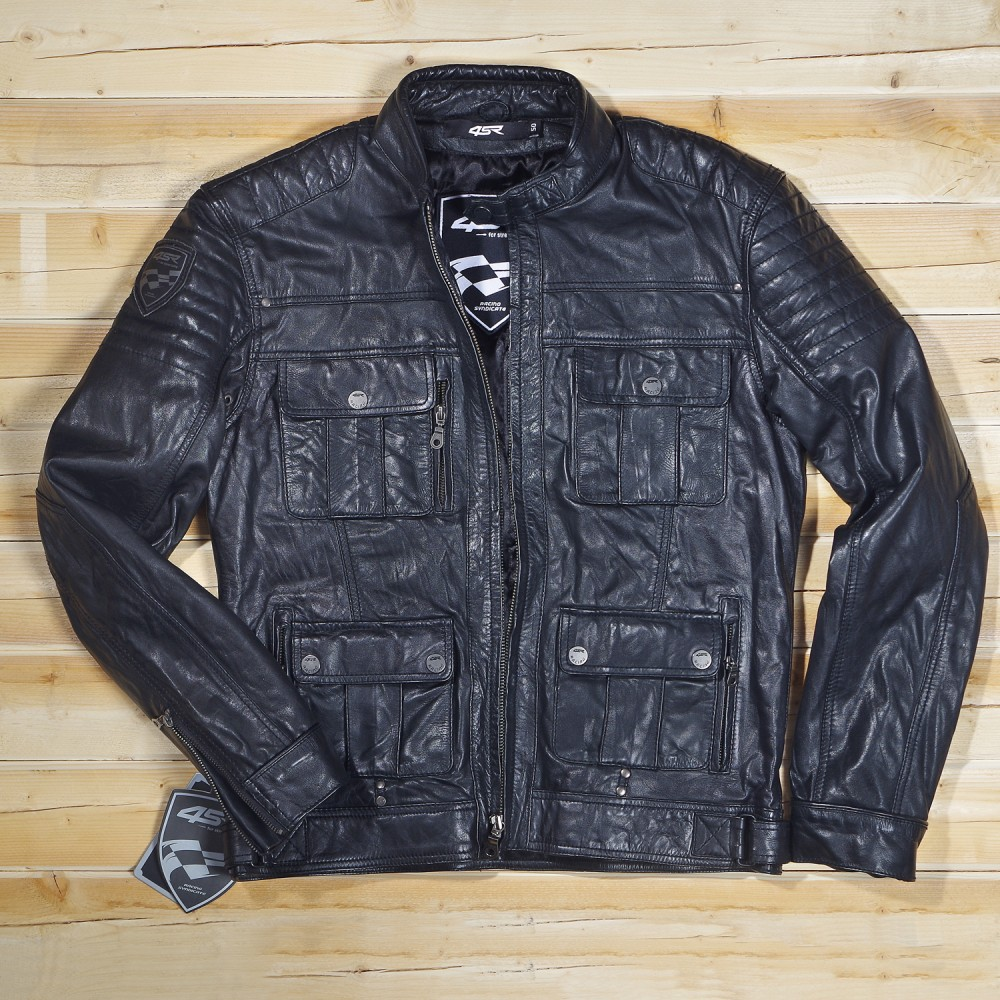 Racing Syndicate Gangster Black Car Leather Jacket