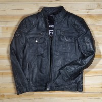 Racing Syndicate - Fighter Black - automotive leather jacket